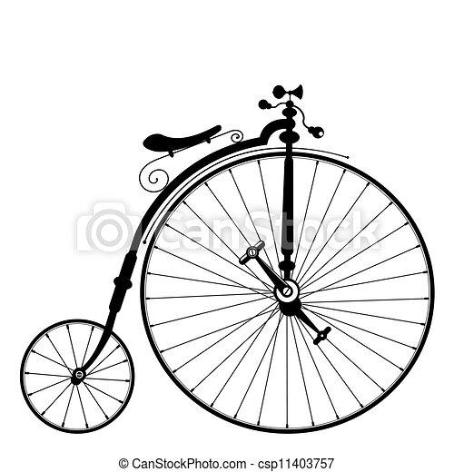 오래되었던 자전거 - csp11403757