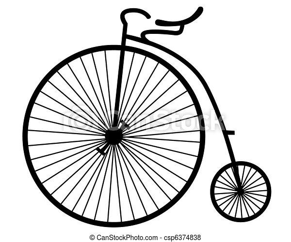 오래되었던 자전거 - csp6374838