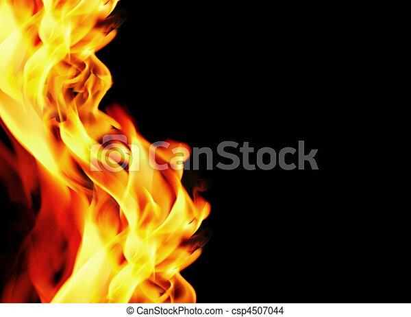완전한, 불, 배경 - csp4507044