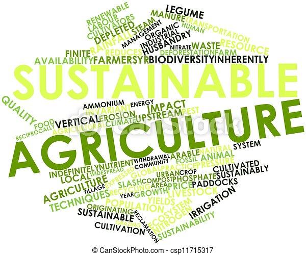 유지할 수 있는, 농업 - csp11715317