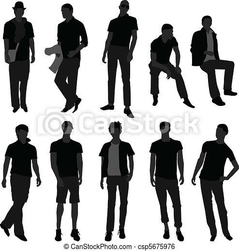 유행, 쇼핑, 사람, 모델, 남성, 남자 - csp5675976