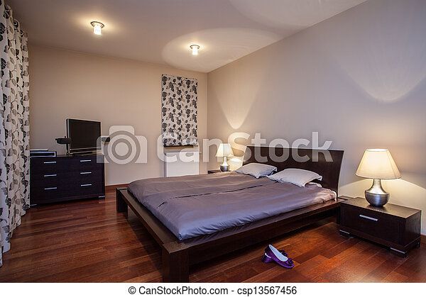 유행, 집, -, 석회화, 침실 - csp13567456