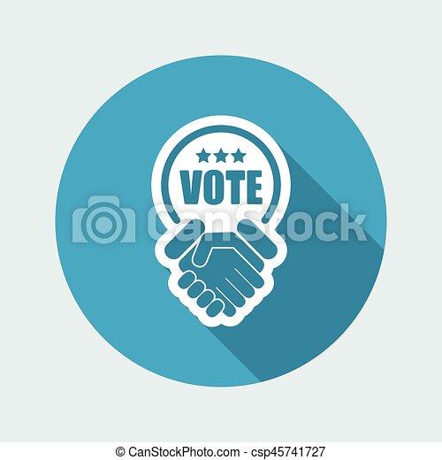 은 투표한다, 동의, 협정, 계약 - csp45741727