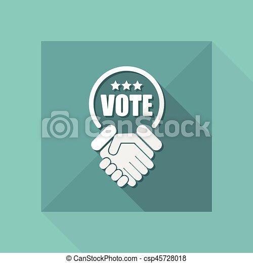 은 투표한다, 동의, 협정, 계약 - csp45728018