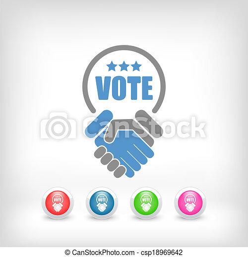 은 투표한다, 동의, 협정, 계약 - csp18969642