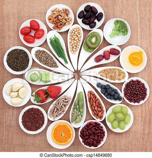 음식, 큰접시, 건강 - csp14849680