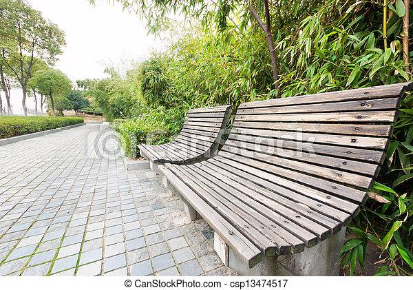 의자, 공원 - csp13474517