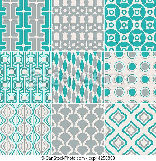 인쇄, 패턴, seamless, retro - csp14256853