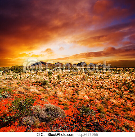 일몰, 사막, 아름다움 - csp2626955