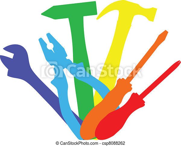 일, 도구, 다채로운 - csp8088262