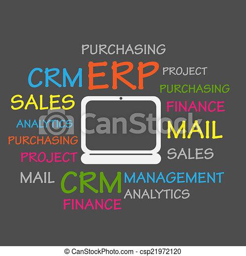 자원, 계획, erp, 기업 - csp21972120