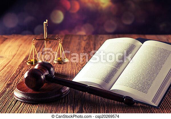 작은 망치, 법전, 법 - csp20269574