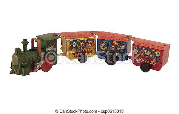 장난감, 주석, 기차 - csp0615013