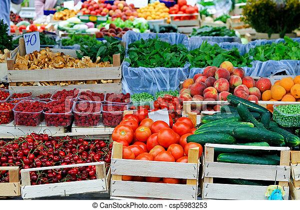 장소, 시장, 농부 - csp5983253