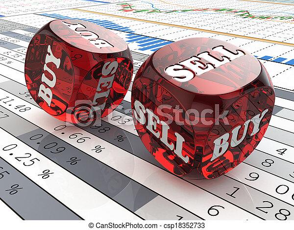 재정, 주사위, concept., graph., 시장, 주식 - csp18352733