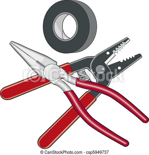 전기공, 도구, 로고 - csp5949737