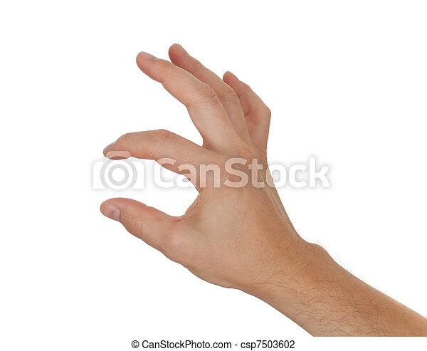 전시, 손, 타당한 것, 무엇인가, 보유, 또는, 얇은 - csp7503602