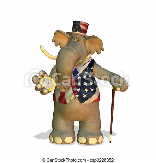 정치에 참여하는, 코끼리 - csp0228352