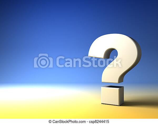 질문, 배경, 표 - csp8244415