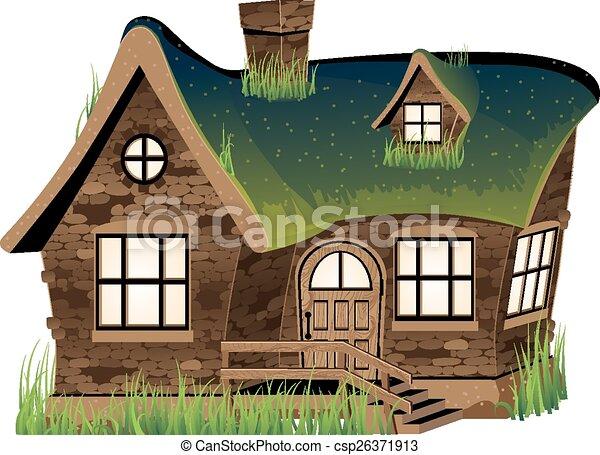 집, 돌 - csp26371913