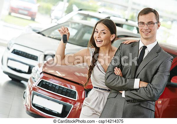 차, 파는 것, 또는, 구입, 자동차 - csp14214375