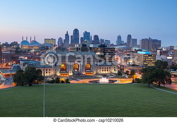 캔자스, city. - csp10210026