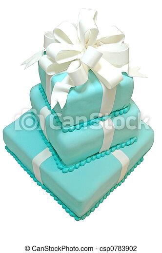 케이크, 생일, 고립된 - csp0783902