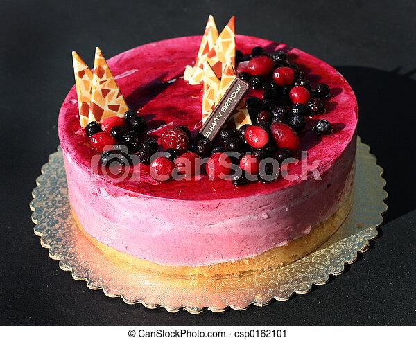 케이크, 생일 - csp0162101