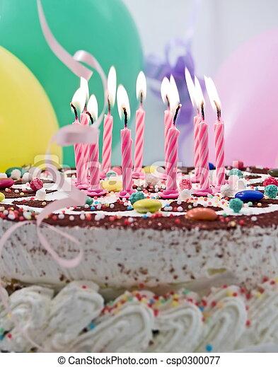 케이크, 생일 - csp0300077