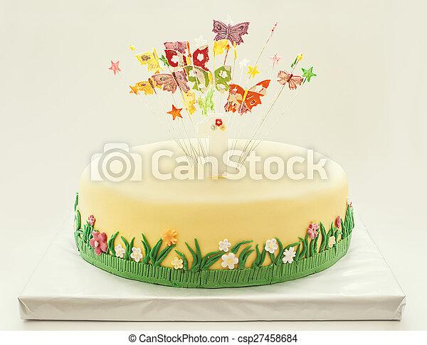 케이크, 생일 - csp27458684