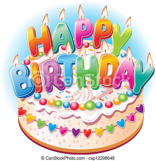 케이크, 생일 - csp12298648