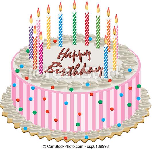 케이크, 생일 - csp6189993