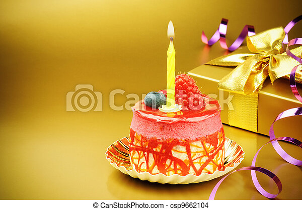 케이크, 양초, 생일, 다채로운 - csp9662104