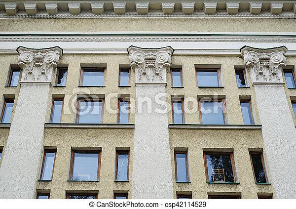 코린트 사람, b, 합성물, 벽기둥, 건축술, 란, 스타일 - csp42114529