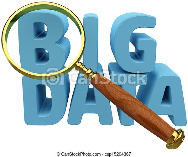 크게, 자료, 발견, 분석, 정보 - csp15204367