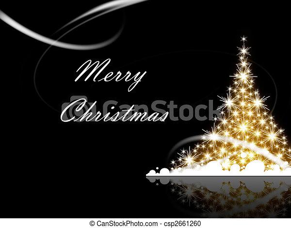 크리스마스, 명랑한 - csp2661260
