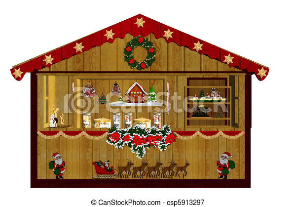 크리스마스, 시장 - csp5913297