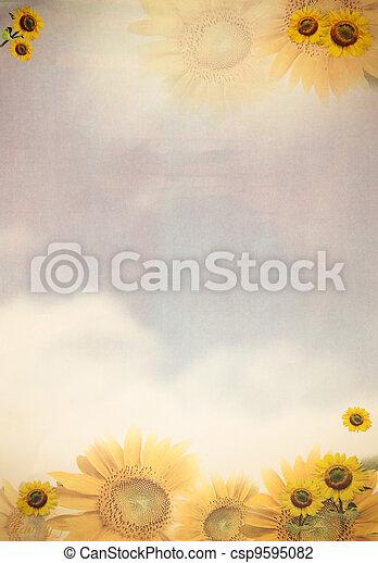 태양, 서류상 꽃 - csp9595082