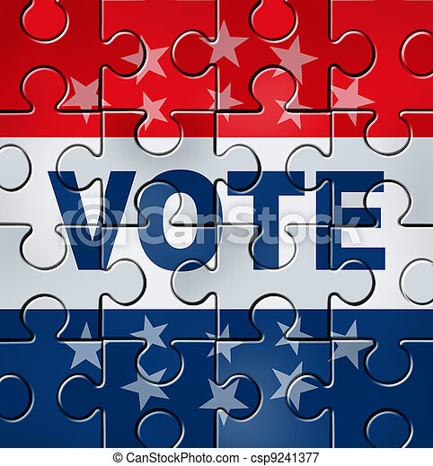 투표, 조직, 정치에 참여하는 - csp9241377