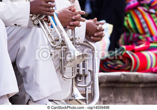 트롬본, band., 노는 것, 크게 - csp14559498