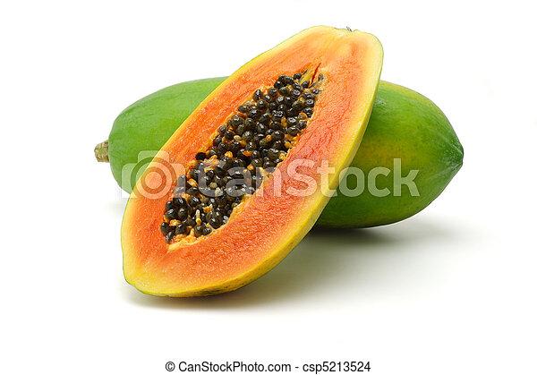 파파야, 과일 - csp5213524