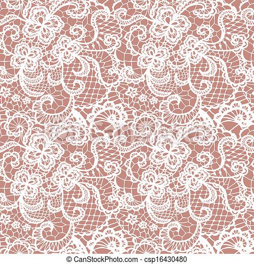 패턴, 꽃, 레이스, seamless - csp16430480