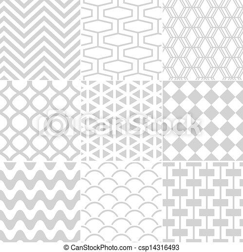 패턴, 백색, seamless, retro - csp14316493