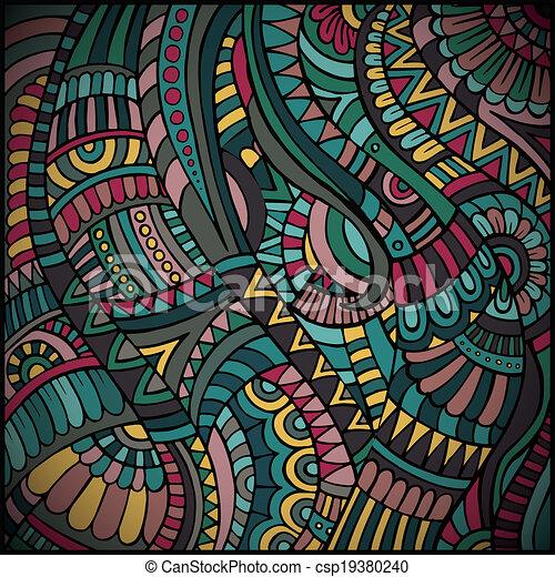 패턴, 벡터, 소수 민족의 사람 - csp19380240