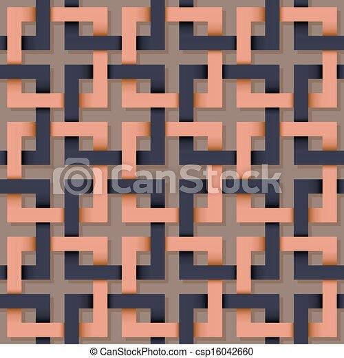 패턴, 사각형, seamless, 선. - csp16042660