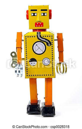 포도 수확, 장난감 로봇 - csp0028318
