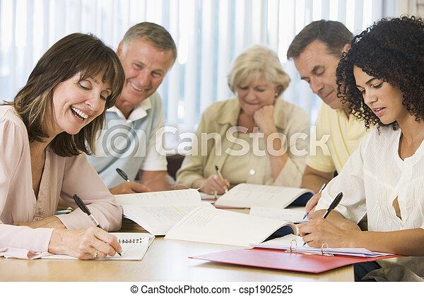 학생, 공부, 성인, 함께 - csp1902525