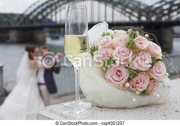 한 쌍 춤, 결혼식 - csp4351237
