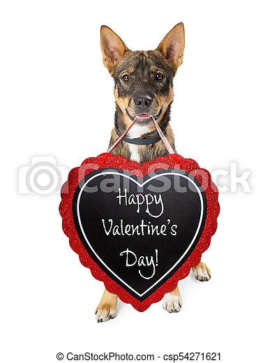 행복하다, 연인, 개, 일, 표시 - csp54271621
