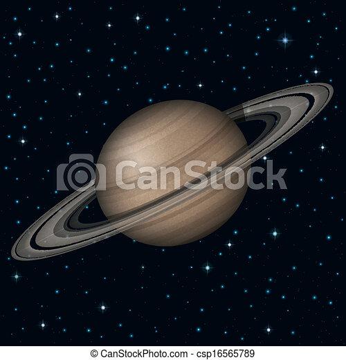 행성, 공간, 토성 - csp16565789